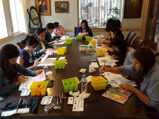 Watercolor class at Abaseria Cafe in Cebu City